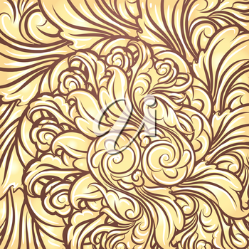 Background with scrolling golden Leaves.