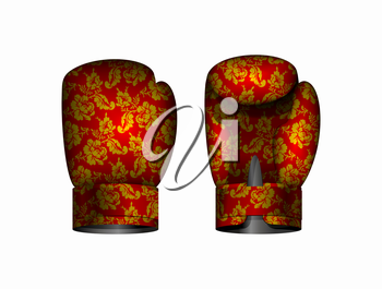 boxing gloves Russia traditional style. Vector illustration Eps 10