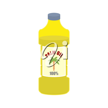 Palm oil bottle. Plastic bottle for food preparation.