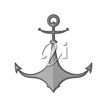 Anchor isolated. boat Ship armature. Vector illustration