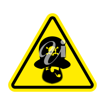 Attention pirate. Yellow warning sign rover. Caution filibuster