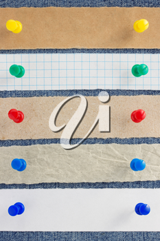 paper and jeans texture as background