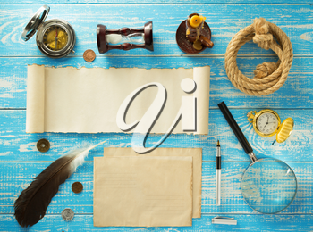 retro concept at old wooden background