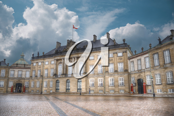 The Royal Amalienborg Palace in Copenhagen. Denmark