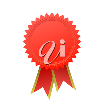 Blank guarantee vector element sign certificate with ribbons
