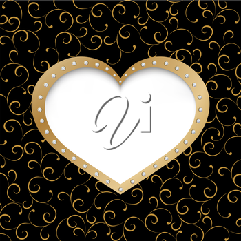 Valentines Day Greeting Cards. Vector illustration with valentines heart