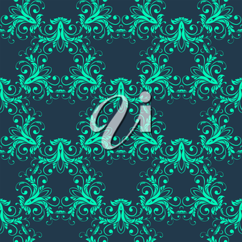 Vector Abstract vintage seamless damask pattern  EPS 10