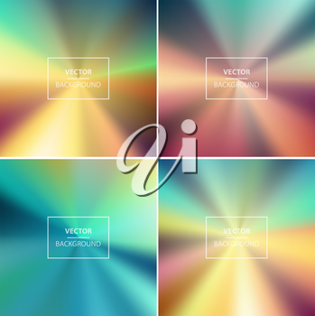 Abstract colorful radial blurred vector backgrounds.  Wallpaper for website, presentation or poster design