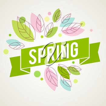 Fresh vector design for banners, greeting cards, spring sales. Leaves splash