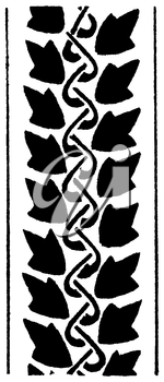 Royalty Free Clipart Image of a Vertical Border of Leaves