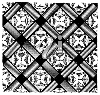 Royalty Free Clipart Image of a Background With a Diamond Pattern