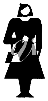 Royalty Free Clipart Image of a Retro Woman
