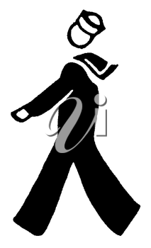 Royalty Free Clipart Image of a Sailor