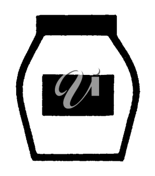 Royalty Free Clipart Image of a Jar