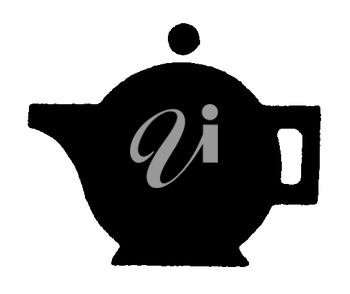 Royalty Free Clipart Image of a Small Teapot