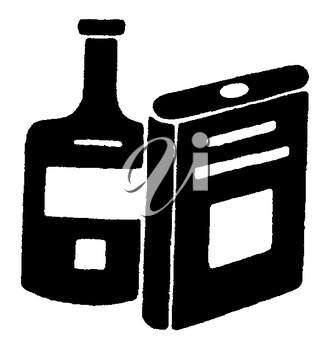 Royalty Free Clipart Image of Two Containers