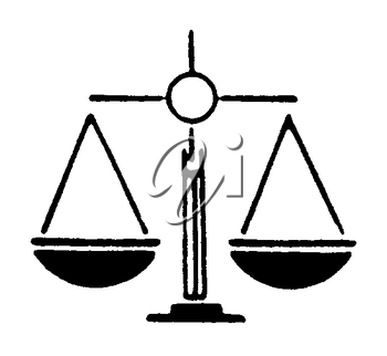 Royalty Free Clipart Image of a Scales