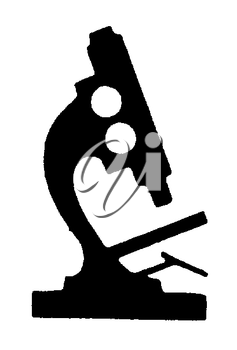 Royalty Free Clipart Image of a Microscope