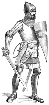 Royalty Free Clipart Image of a Knight