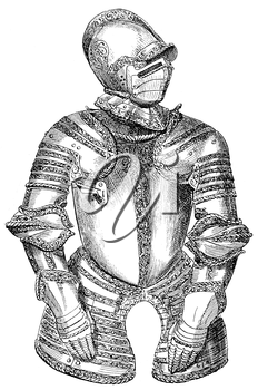 Royalty Free Clipart Image of Armour