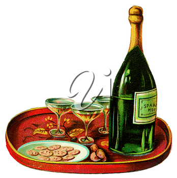Royalty Free Clipart Image of Champagne