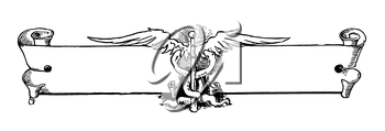 Royalty Free Clipart Image of a Banner