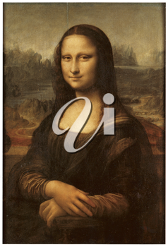 Royalty Free Clipart Image of the Mona Lisa