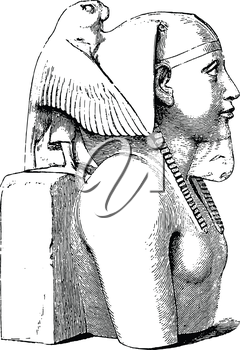 Royalty Free Clipart Image of an Egyptian Statue
