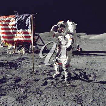 Royalty Free Photo of The First Moon Landing