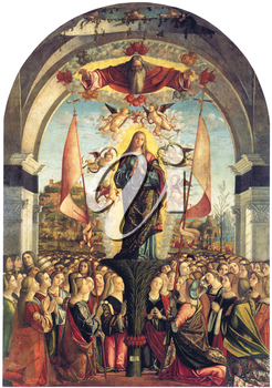 Royalty Free Clipart Image of The Apotheiosis of St. Ursula by Vittore Carpaccio