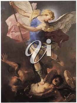 Royalty Free Clipart Image of St. Michael by Luco Giordano