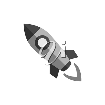 Rocket icon. Symbol in trendy flat style isolated on white background. Illustration element for your web site design, logo, app, UI.