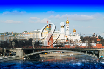 Stunning view on Moscow Red Square city background hd