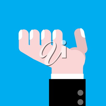 Hand asking isolated. Finger of businessman. Vector illustration