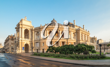 Odessa National Academic Theater of Opera and Ballet in Ukraine in a summer morning