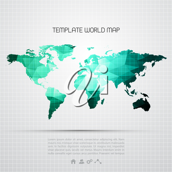 Abstract background with vector world map. EPS 10