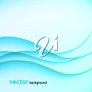 Vector illustration Abstract colorful background with blue wave
