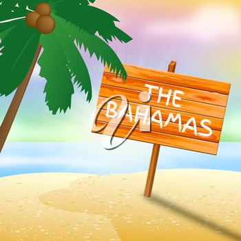 Bahamas Vacation Meaning Tropical Holiday 3d illustration