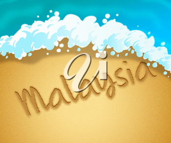 Malaysia Holiday Showing Vacation Asia 3d Illustration