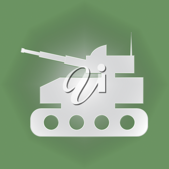 Tank Icon Meaning Armed War And Weapons