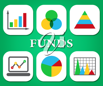 Funds Charts Representing Stock Market And Statistical