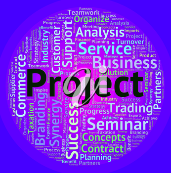 Project Word Indicating Wordcloud Plan And Activity