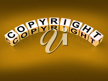 Copyright Blocks Showing Patent and Trademark for Protection