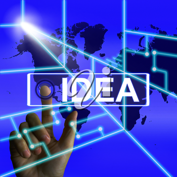 Idea Screen Meaning Worldwide Concept Thought or Ideas