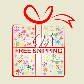 Shipping Shopping Showing Free Of Cost And With Our Compliments