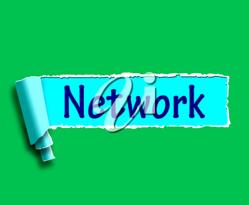 Network Word Meaning Online Connections And Contacts