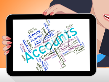 Accounts Words Representing Balancing The Books And Balance Wordcloud