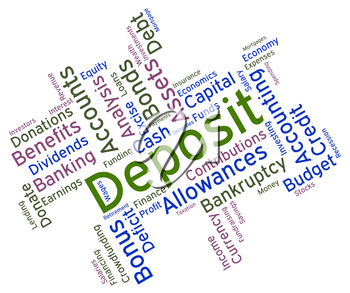 Deposit Word Indicating Part Payments And Words