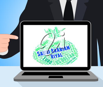 Saudi Arabian Riyal Meaning Foreign Currency And Banknote