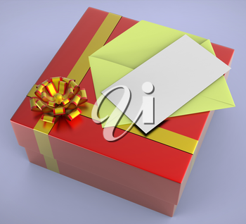 Gift Tag Showing Text Space And Gift-Card
